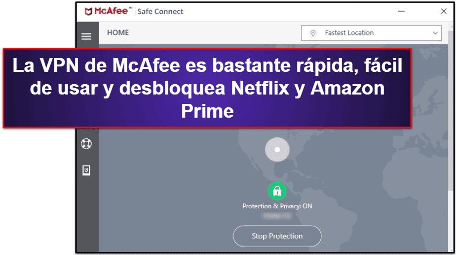 Funciones de seguridad de McAfee