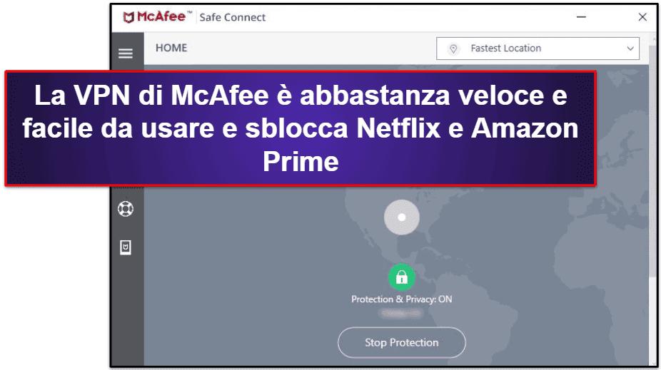 Le funzionalità di sicurezza di McAfee