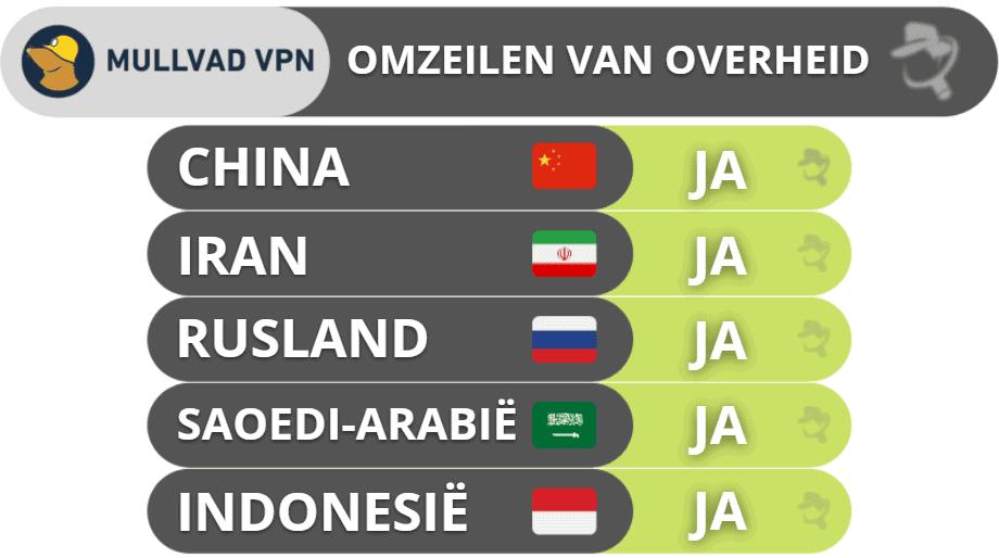 Mullvad VPN – Omzeilen van overheidsblokkades
