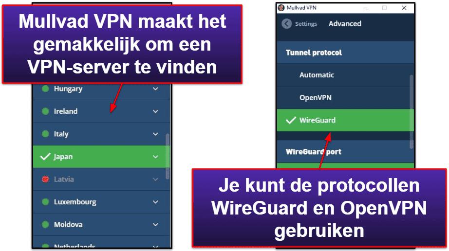 Mullvad VPN – Gebruiksgemak: mobiele & desktop-apps