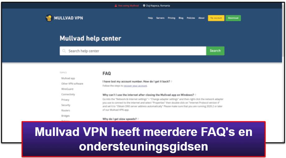 Mullvad VPN – Klantenondersteuning