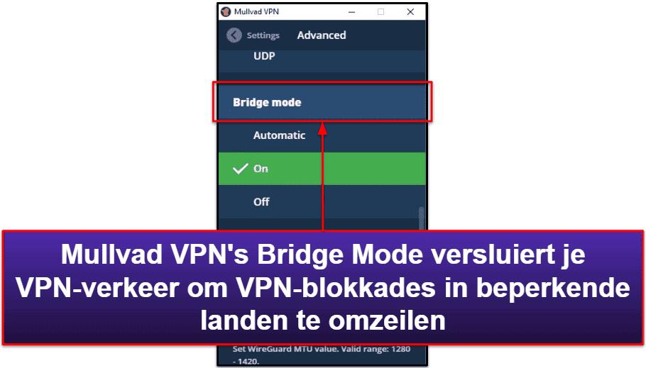 Mullvad VPN – Functies