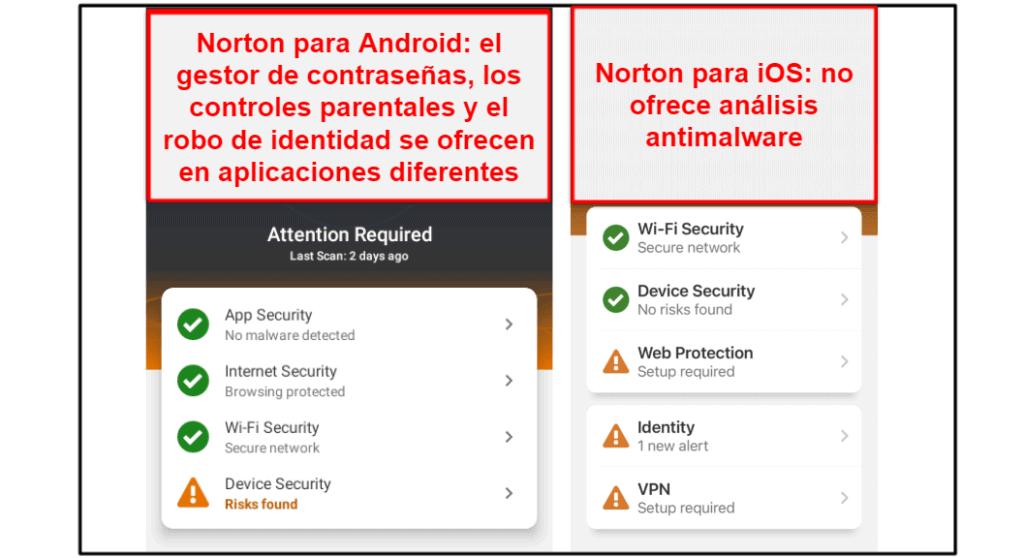 Aplicación móvil Norton 360