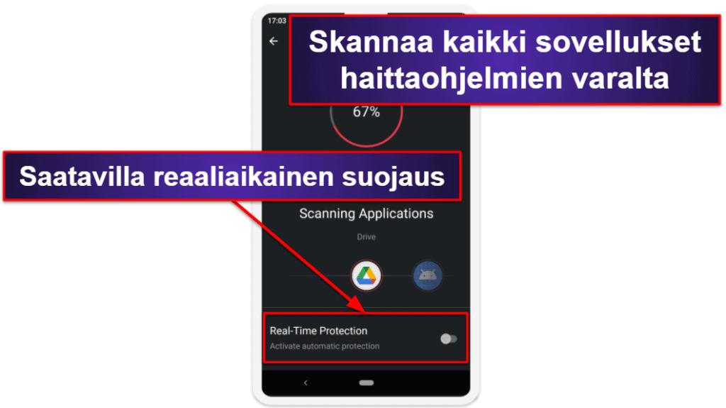 TotalAV:n mobiilisovellus