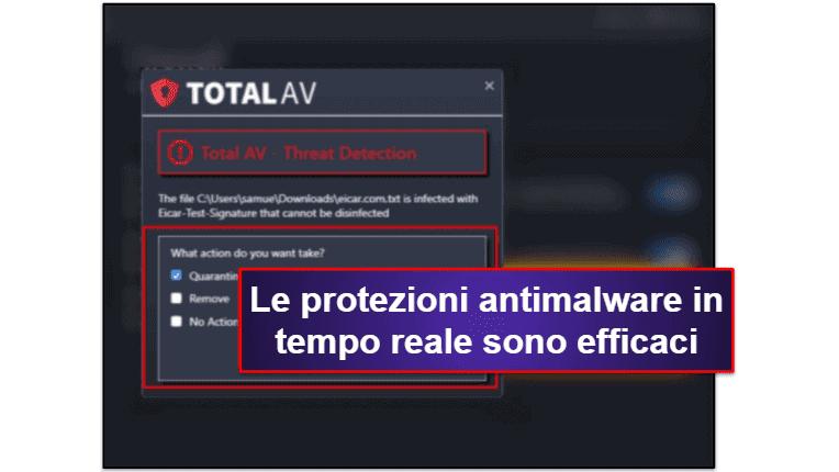 Le funzionalità di sicurezza di TotalAV