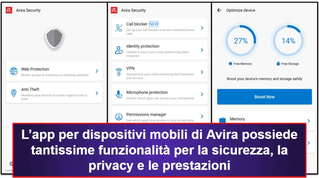 Applicazione per dispositivi mobili di Avira