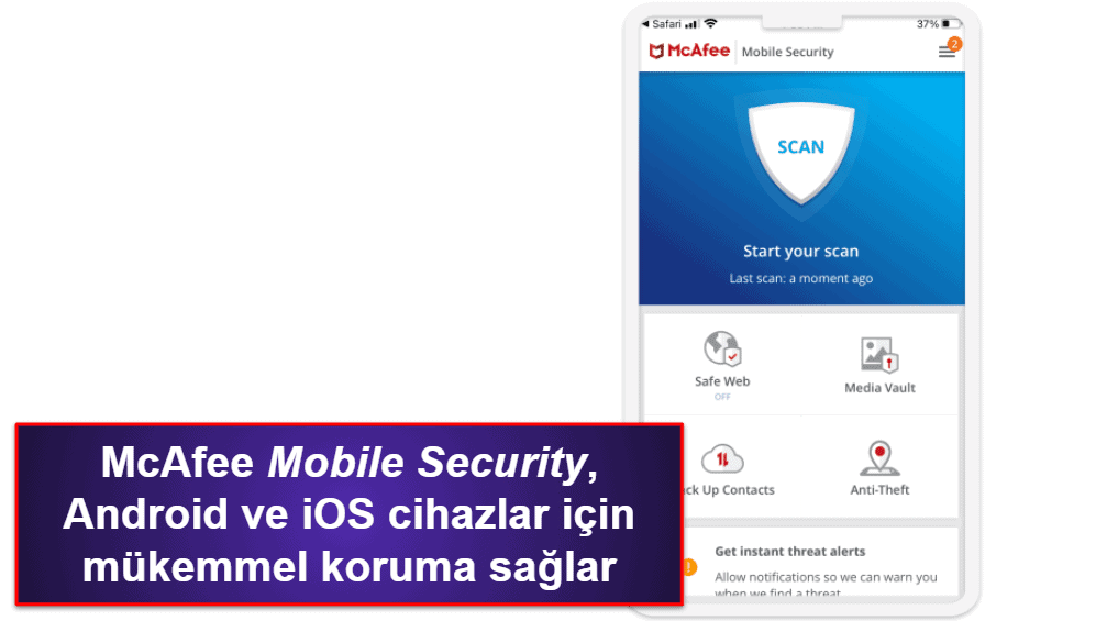 McAfee Mobil Uygulaması