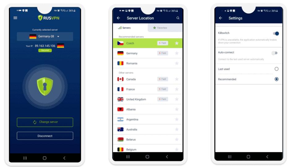 RUSVPN Ease of Use: Mobile & Desktop Apps