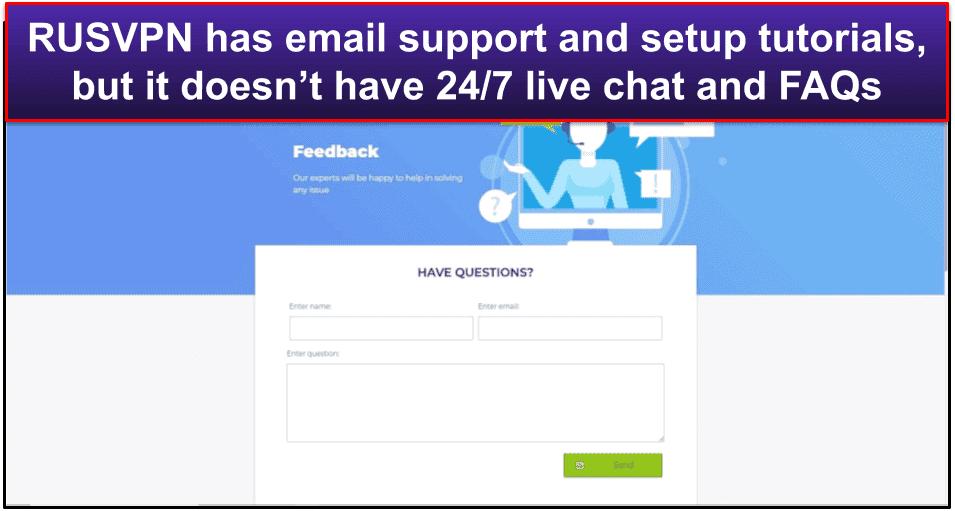 RUSVPN Customer Support